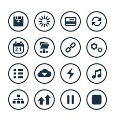 app icons universal set vector image