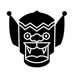 dragon - china icon black vector image