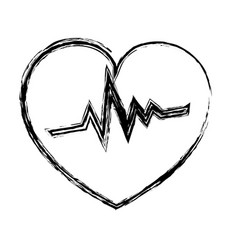 Heart cardiology isolated icon vector