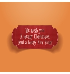Merry Christmas and happy New Year greeting Label vector image vector image