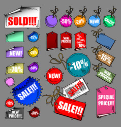 set of tags sale vector image vector image