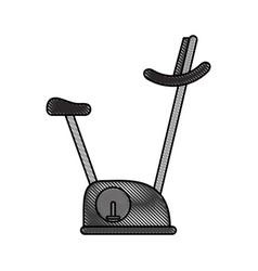 Spinning fitness machine vector