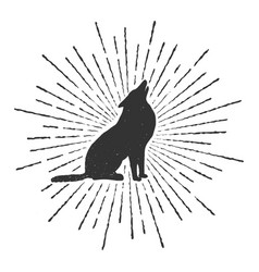 symbol of howling wolf vector image vector image