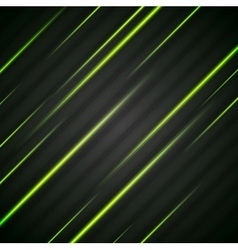 Abstract shiny green glowing stripes flyer vector image vector image