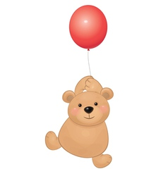 bear balloon vector image vector image