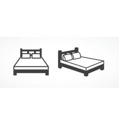 Bed icons vector image