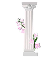 greek corinthic columns order vintage design vector image