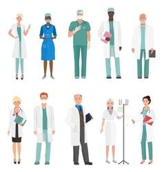 Hospital medical staff doctors Group of doctors vector image vector image