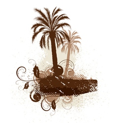 isolated palm trees and leaves vector image vector image