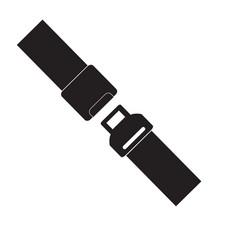 safety belt icon isolated on white background vector image