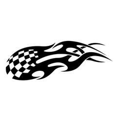 Stylized tribal racing tattoo vector image vector image