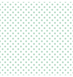 Tile mint dots pattern on white background vector image
