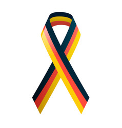 german flag ribbon in national colors black red vector image