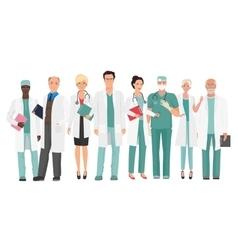 Hospital medical staff Team doctors together vector image vector image