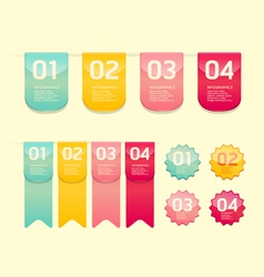 Modern soft color Design button vector image