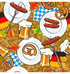 Oktoberfest background seamless pattern vector