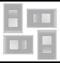 silver onoff switch vector image