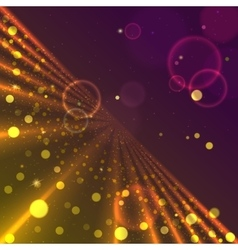 Virtual space with glow vector image