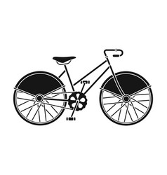 walking bicycle with large shields and curves vector image vector image