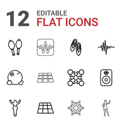 12 dance icons vector