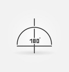 180 degrees graph linear concept icon or vector