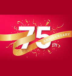 75th anniversary celebration banner template vector image