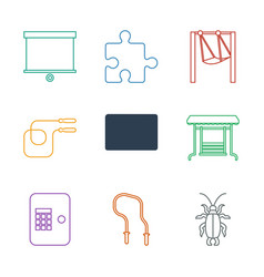9 painting icons vector