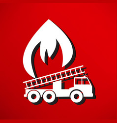 a fire engine vector image