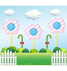 A lollipop garden vector