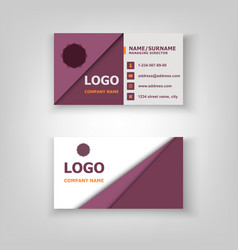 abstract pattern business card template design vector image