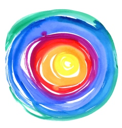 Abstract watercolor round background vector image