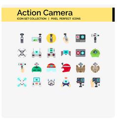 Acton camera flat vector