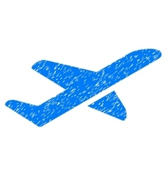 Airplane Takeoff Grainy Texture Icon vector