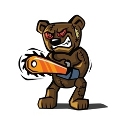 Angry bear toy vector