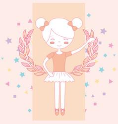 beautiful ballerina ballet vector image