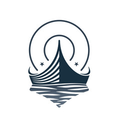 Boat and waves icon design vector