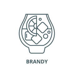 brandy line icon linear concept outline vector image