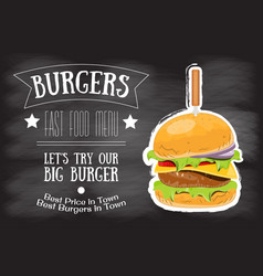 Burger house menu vector