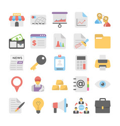 business flat colored icons 1 vector image