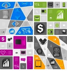 business geometric infographic vector image