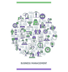 business management concepte vector image