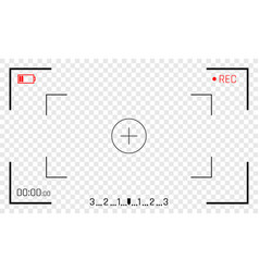Camera frame viewfinder screen vector
