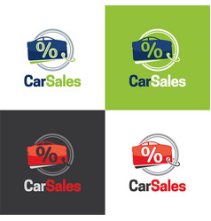 car sales logo and icon vector image