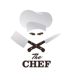 Chef and knives set good for logo vector
