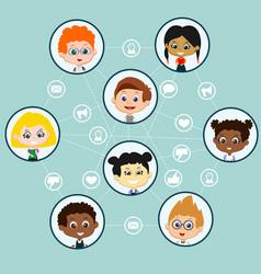 Children social media background vector