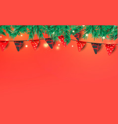 christmas or new year decorative elements for vector image
