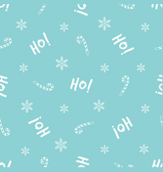 Christmas seamless pattern with festive text and vector