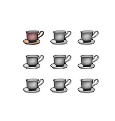 coffee or tea cup set liner vector image