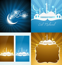 Collection attractive background eid vector
