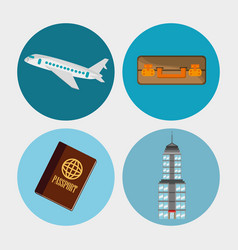 Collection travel elements concept vector